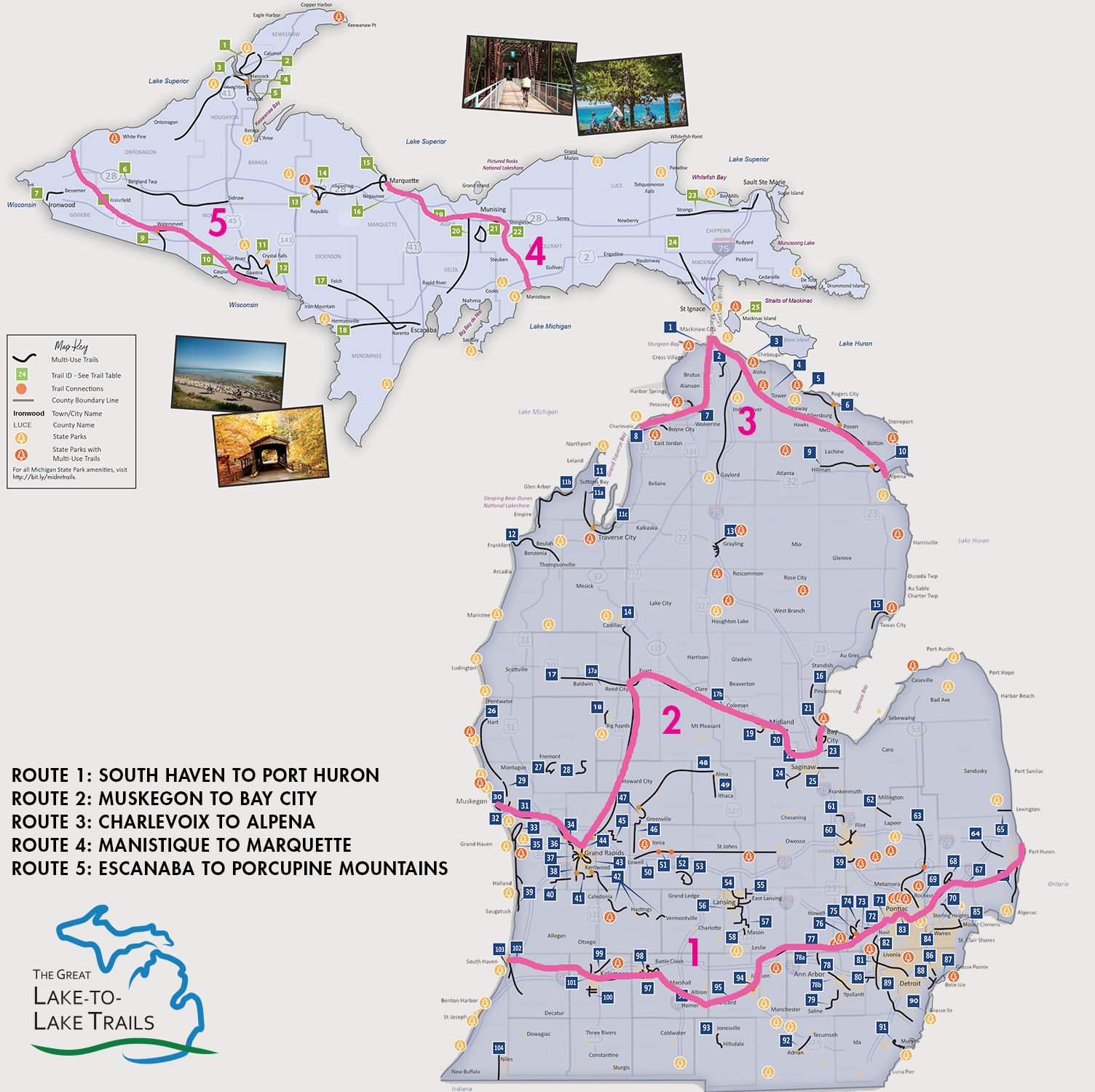 Great Lake-to-Lake Trails | Michigan Trails and Greenways Alliance